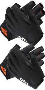 2021 Gill Double Pack Championship Short & Long Finger Sailing Gloves - Black
