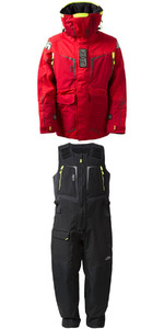 2020 Gill Mens OS1 Offshore Ocean Jacket OS12J & Trouser OS12T Combi Set in RED / Graphite