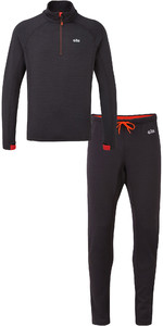 Gill Mens OS Thermal Zip Neck Top & Leggings Package Deal - Graphite