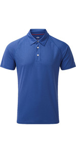 2019 Gill Mens UV Tec Polo Top Blue UV008