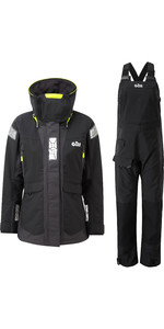 2020 Gill OS2 Womens Offshore Jacket & Trouser Combi Set - Black