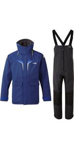 2020 Gill OS3 Mens Coastal Jacket & Trouser Combi Set - Dark Blue / Graphite