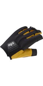 2021 Gill Pro Short Finger Sailing Gloves 7443 - Black