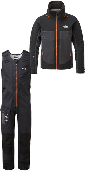 2019 Gill Mens Race Fusion Jacket RS23 & Salopettes RS25 Black