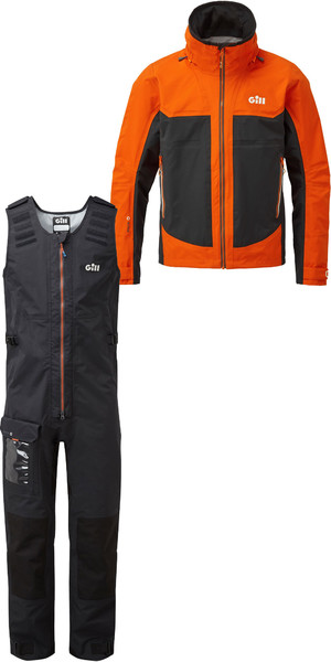2019 Gill Mens Race Fusion Jacket RS23 & Salopettes RS25 Tango / Black