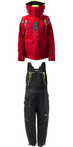 2020 Gill Womens OS1 Offshore Ocean Jacket OS12JW & Trouser OS12TW Combi Set in RED / Graphite