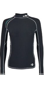 2019 Gill Womens Pro Long Sleeve Rash Vest Black 4430W