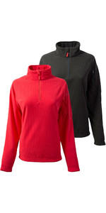 Gill Womens Thermogrid Zip Neck Fleece Twin Pack Graphite & Red