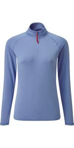2019 Gill Womens UV Tec Zip Neck Top Blue UV009W