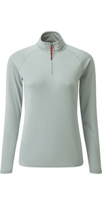 2019 Gill Womens UV Tec Zip Neck Top Grey UV009W