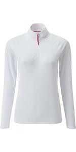 2020 Gill Womens UV Tec Zip Neck Top White UV009W