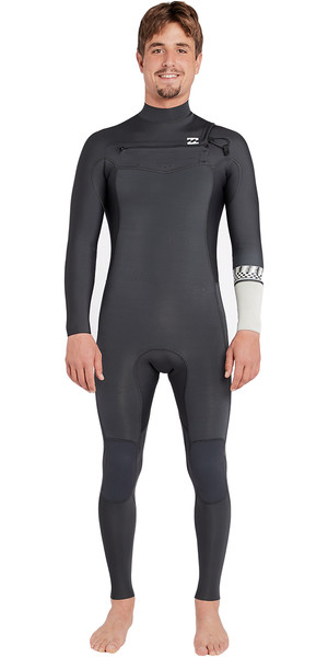 2018 Billabong Furnace Revolution 5/4mm Chest Zip Wetsuit Graphite L45M06
