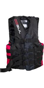 2021 Gul 50N 4 Buckle Impact Ski Vest Black / Red SK7102-B4