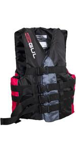2020 Gul 50N 4 Buckle Impact Ski Vest Black / Red SK7102-B4