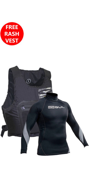2018 GUL Code Zero Evo Buoyancy Aid BLACK & Xola Rash Vest Bundle Offer