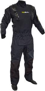 2020 Gul Code Zero Stretch U-Zip Drysuit Black Inc Con Zip GM0368-B8 - Black