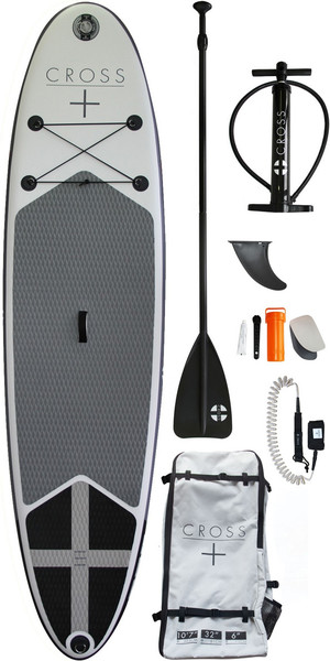 2018 Gul Cross 10'7 Inflatable SUP Board Package CB0029