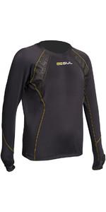 2020 Gul Evolite Junior Thermal Long Sleeve Top Black EV0121-B2