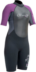 2020 Gul G-Force 3mm Womens Shorty Wetsuit Black / Mulberry GF3306-A9