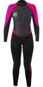 2021 Gul G-Force Junior 3mm Flatlock Wetsuit GF1308-B7 - Black / Pink