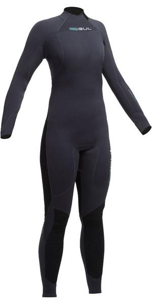 Gul Code Zero Womens 4/3mm Back Zip Wetsuit JET CZ1202-A9