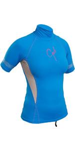 Gul Womens Swami Short Sleeve Rash Vest Blue / Silver RG0330-B4