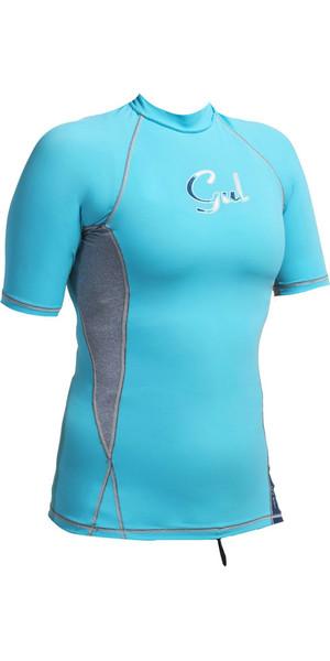 Gul Ladies Swami Short Sleeve Rash Vest Turquoise / Marl RG0330-A9