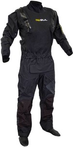 2021 Gul Mens Code Zero Stretch U-Zip Drysuit With Con Zip GM0368-B8 - Black