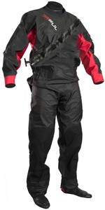 2020 Gul Mens Dartmouth Eclip Zip Drysuit GM0378-B5 - Black / Red