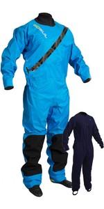 2021 GUL Junior Dartmouth Eclip Zip Drysuit Inc Underfleece Blue GM0378-B5