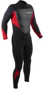 2021 Gul Mens Response 3/2mm Back Zip GBS Wetsuit RE1231-B9 - Black / Red