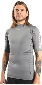2021 Gul Mens Xola Short Sleeve Rash Vest RG0338-B9 - Grey