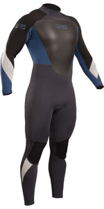 2019 Gul Response 3/2mm Back Zip GBS Wetsuit Graphite / Blue RE1231-B4