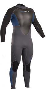 2020 Gul Response 3/2mm Flatlock Back Zip Wetsuit Blue / Graphite RE1321-B4