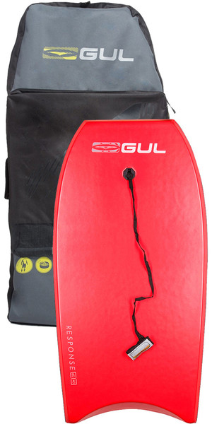2019 Gul Response Adult 42 Bodyboard Red & Arica Board Bag Bundle Offer