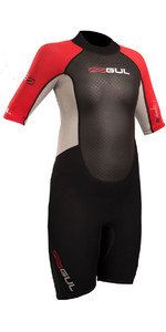 2019 Gul Response Junior 3/2mm Shorty Wetsuit Black / Red RE3322-B4