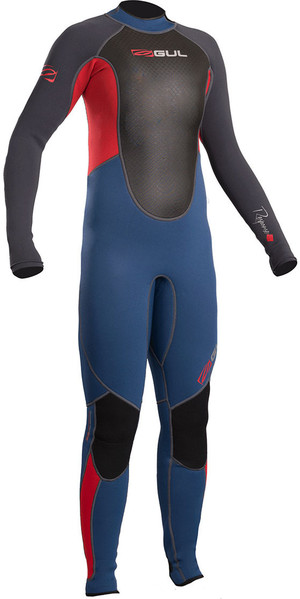 2019 Gul Response Junior 3/2mm Flatlock Wetsuit Blue / Graphite RE1322-B4