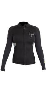 2020 Gul Response Womens 3mm Bolero Wetsuit Jacket Black / Lines RE6305-B4