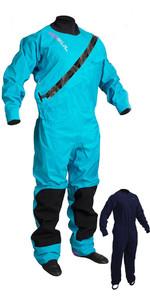 2019 Gul Womens Dartmouth Eclip Zip Drysuit + Underfleece GM0383-B5 - Blue