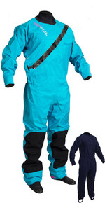 2020 Gul Womens Dartmouth Eclip Zip Drysuit + Underfleece GM0383-B5 - Blue
