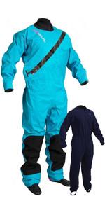 2021 Gul Womens Dartmouth Eclip Zip Drysuit & Underfleece GM0383-B5 - Blue