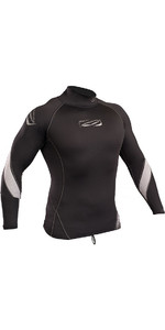 2019 Gul Xola Long Sleeve Rash Vest Black RG0339-B4