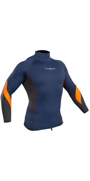 2019 Gul Xola Long Sleeve Rash Vest Blue / Orange RG0339-B4