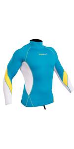 2020 Gul Xola Long Sleeve Rash Vest Crip / White RG0339-B4