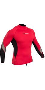2020 Gul Xola Long Sleeve Rash Vest Red / Black RG0339-B4