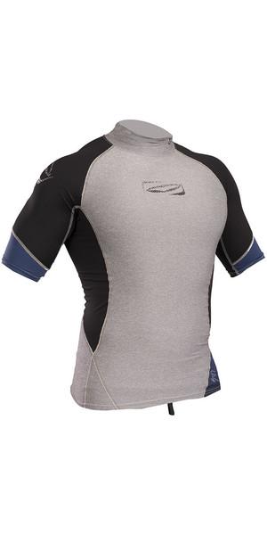 2019 Gul Xola Short Sleeve Rash Vest Marl / Black RG0338-B4