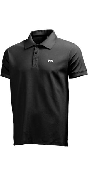 2018 Helly Hansen Driftline Polo Shirt BLACK 50584