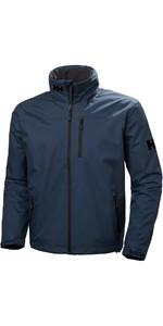 2019 Helly Hansen Hooded Crew Mid Layer Jacket Graphite Blue 33874