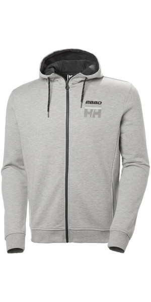 2018 Helly Hansen Club FZ Hoody Grey Melange 33936