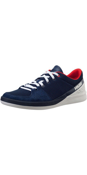2018 Helly Hansen HH 5.5 M WI WO Performance Sailing Shoes Evening Blue / Alert Red 11147